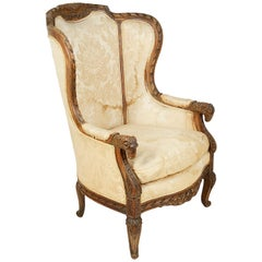 19th Century French Wing Armchair