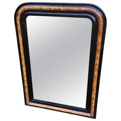 19th Century French Wood Framed Wall Mirror, 1890s