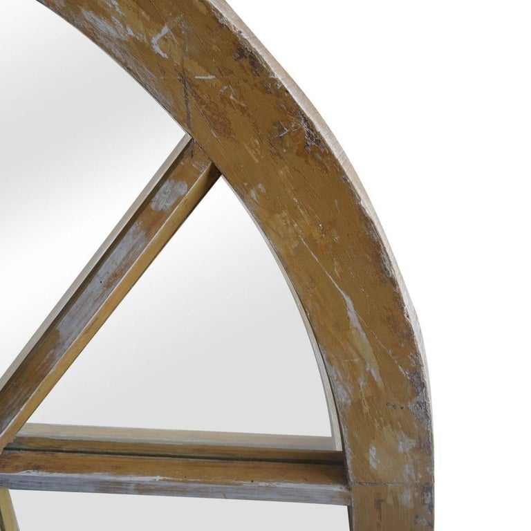 Hand-Carved 19th Century French Wooden Chanot Wall Mirror For Sale