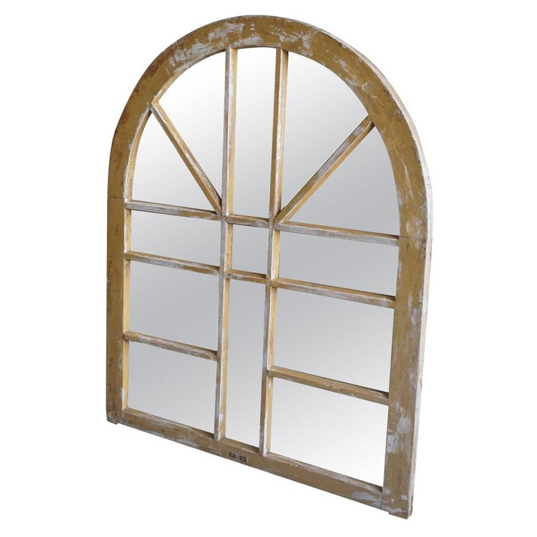 19th Century French Wooden Chanot Wall Mirror For Sale
