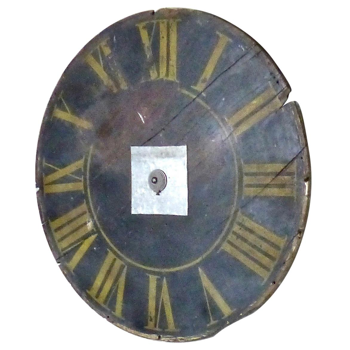 19th Century French Wooden Clock Face
