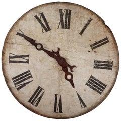 19th Century French Wooden Clock, Napoleon III Decor