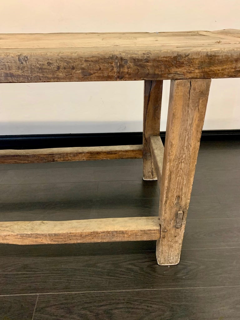 18th Century French Work Farm Table For Sale 5