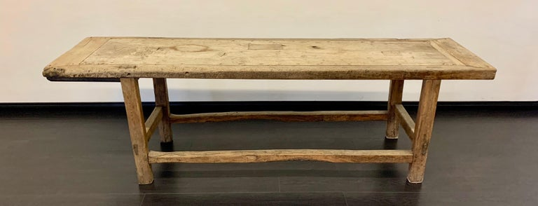 A wonderful primitive 18th Century work table.  A wonderfully worn and weathered table in very good vintage condition, the repairs and attention to how this piece was built are certainly an advantage to the aesthetic. Handsome, French and ready to
