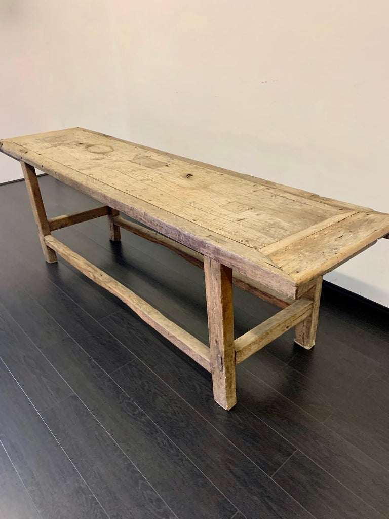 Primitive 18th Century French Work Farm Table For Sale