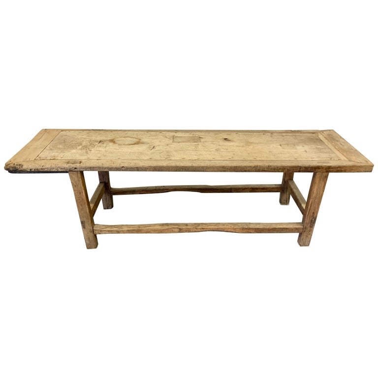 18th Century French Work Farm Table For Sale