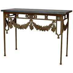 19th Century French Wrought Iron Console Tables