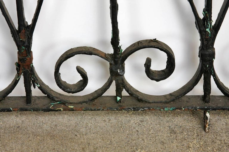 19th Century French Wrought Iron Fence Railing Fragment For Sale 3