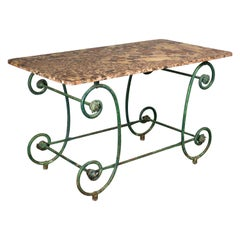 19th Century French Wrought Iron Garden Table