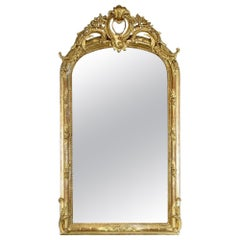 19th Century French XV Style Giltwood Mirror