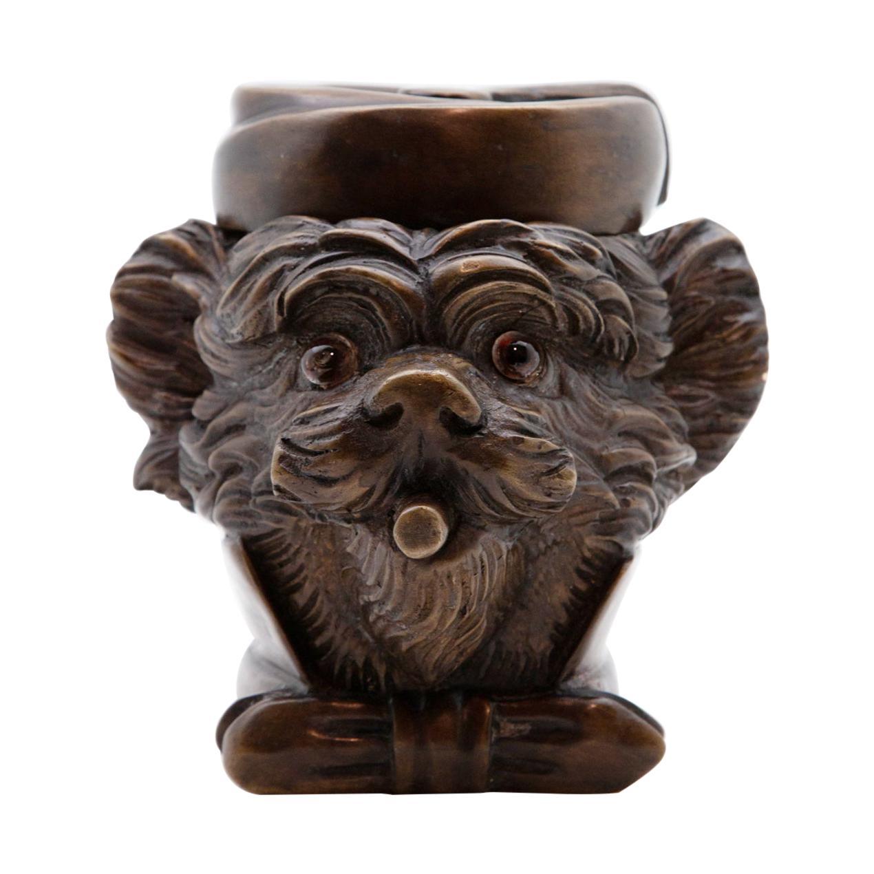 19th Century French Yorkie Tobacco Jar
