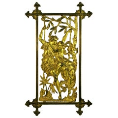 19th Century French Young Lovers Bronze Window Grade