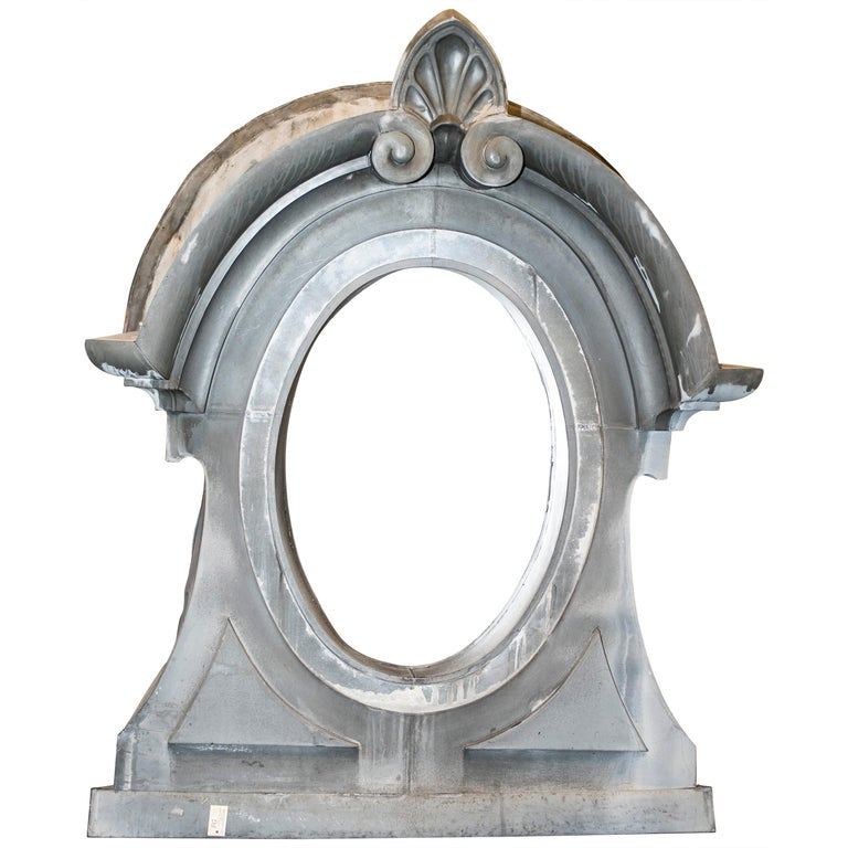 19th Century French Zinc Oeil De Boeuf or Mansard Original Napoleón III For Sale