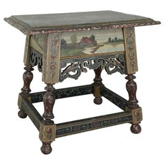 19th Century Friesland Painted End Table