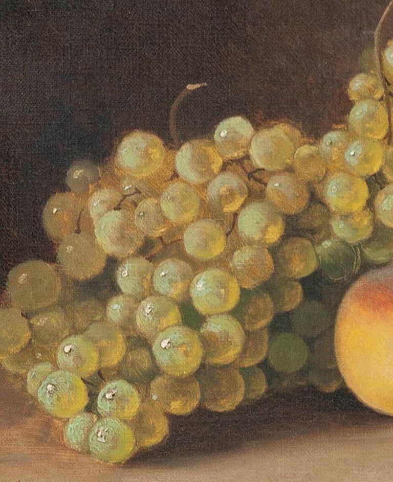 Hand-Painted 19th Century fruit Still-life, oil on canvas by A. Gétiaux, 1896 For Sale