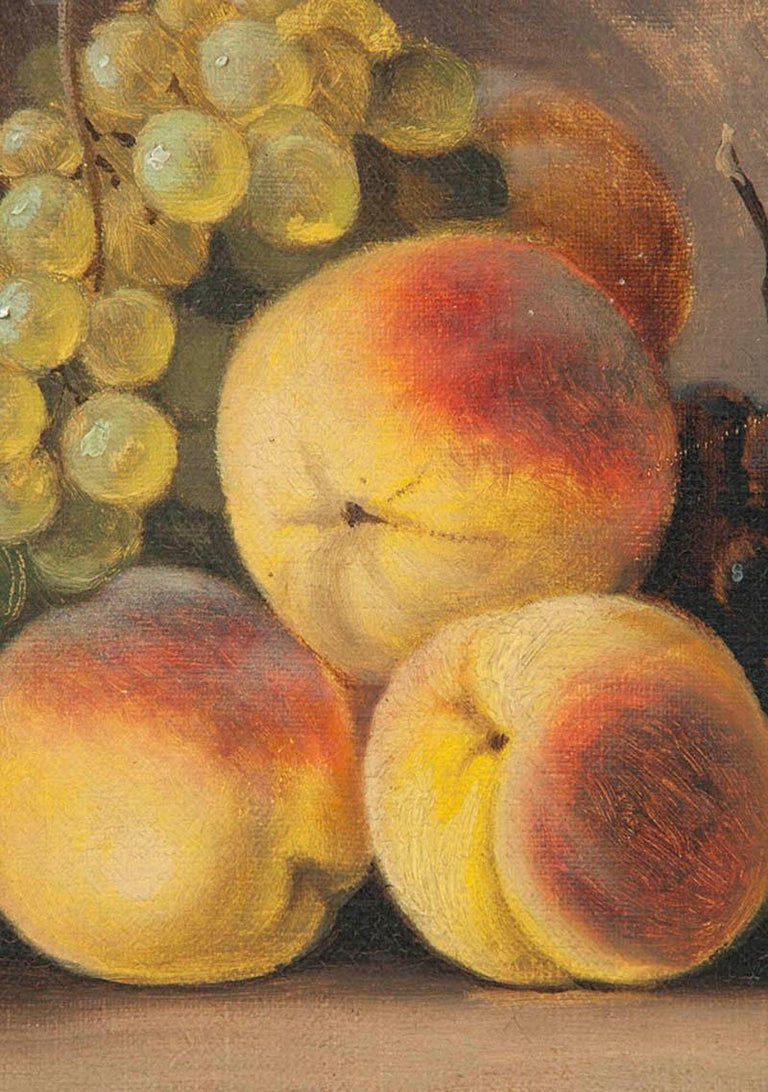 19th Century fruit Still-life, oil on canvas by A. Gétiaux, 1896 In Good Condition For Sale In Casteren, Noord-Brabant
