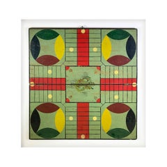 19th Century Game Board Board Mounted in Lucite