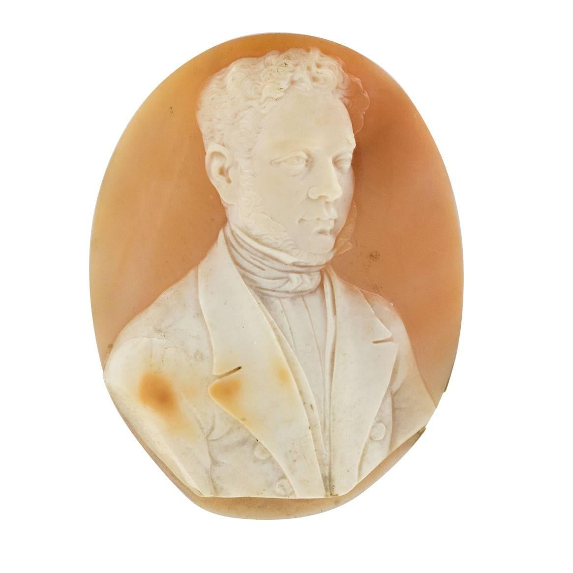 19th Century Gentilhomme Shell Cameo