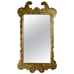 19th Century George I Style Gilt Gesso Pier Wall Mirror