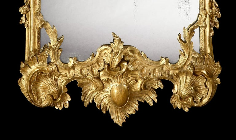 Gilt 19th Century George II Style Pier Glass in the Manner of Matthias Lock For Sale