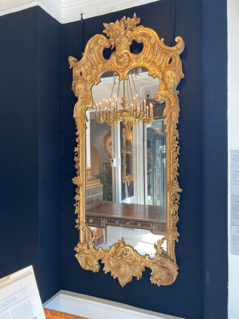 19th Century George II Style Pier Glass in the Manner of Matthias Lock For Sale 1