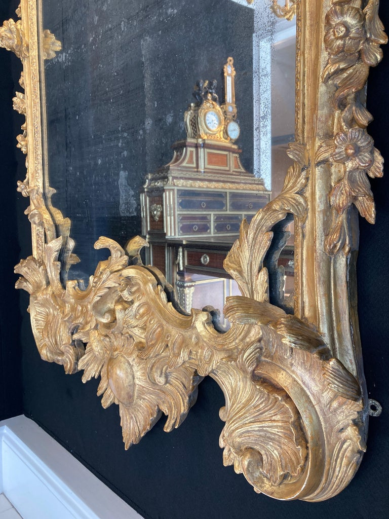 19th Century George II Style Pier Glass in the Manner of Matthias Lock For Sale 2