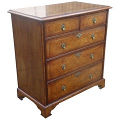 19th Century George III Burr Walnut Chest of Drawers