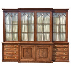 19th Century George III Mahogany Breakfront Bookcase