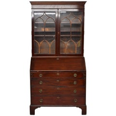19th Century George III Mahogany Secretary Bookcase
