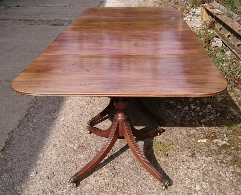 19th Century George III Period Mahogany Four Pedestal Antique Dining Table 1