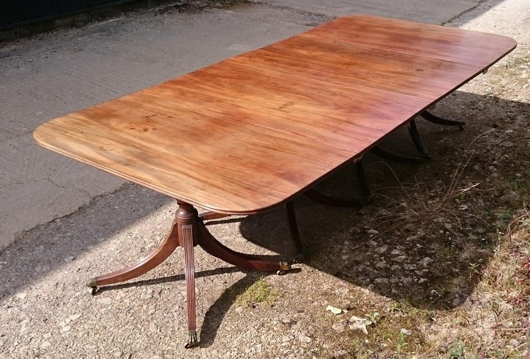 19th Century George III Period Mahogany Four Pedestal Antique Dining Table 3