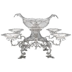 19th Century George III Sterling Silver Epergne by Thomas Pitts