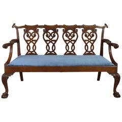 19th Century George III Style Mahogany Settee