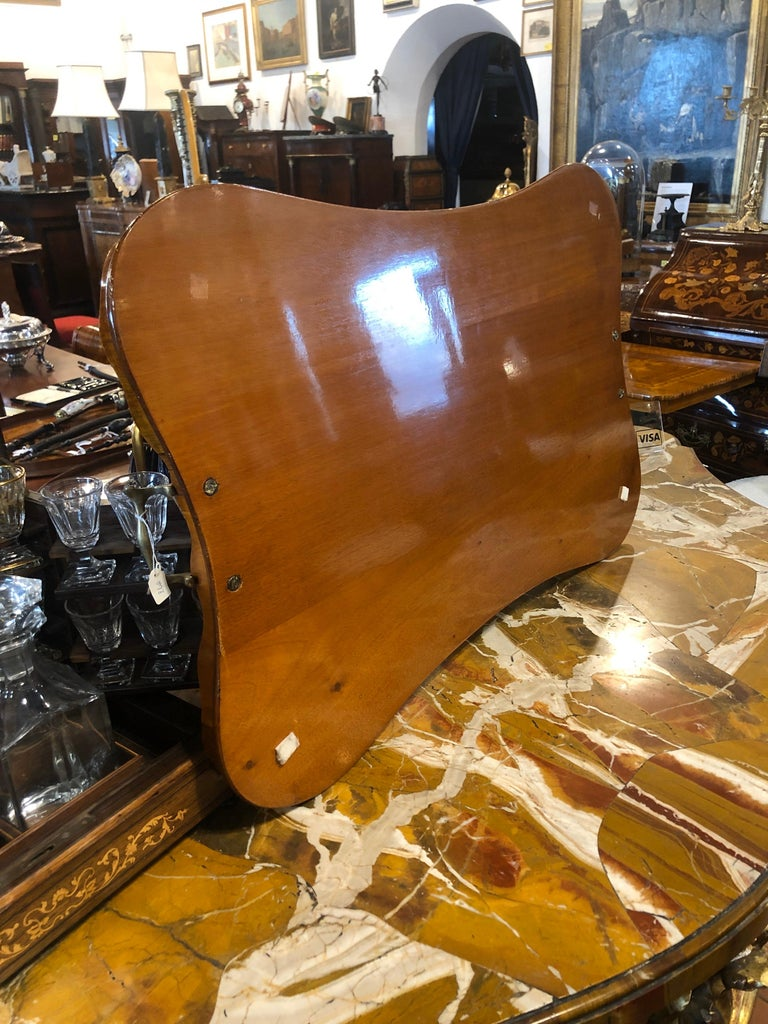 19th Century George III Wood Mahogany Inlay Tea Tray Tables Dishes, 1820s For Sale 1