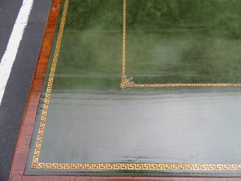 19th Century George III Double-Sided Partner Leather-Top Library Table or Desk 6