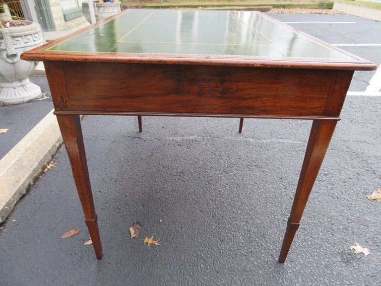 19th Century George III Double-Sided Partner Leather-Top Library Table or Desk 8