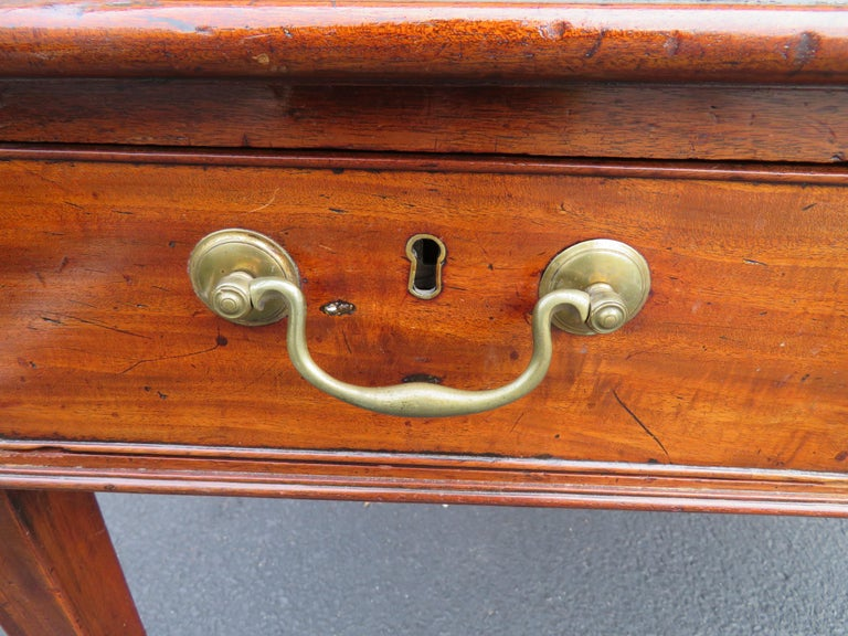 19th Century George III Double-Sided Partner Leather-Top Library Table or Desk In Good Condition In Medford, NJ