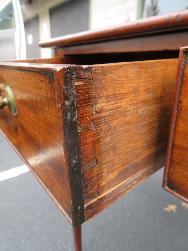 19th Century George III Double-Sided Partner Leather-Top Library Table or Desk 2