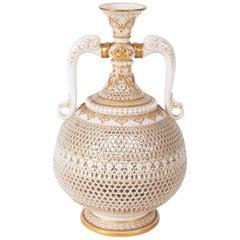 19th Century George Owen Two Handle Vase