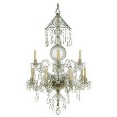 19th Century Georgian Cut Crystal Chandelier