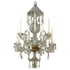19th Century Georgian Cut Crystal Chandelier