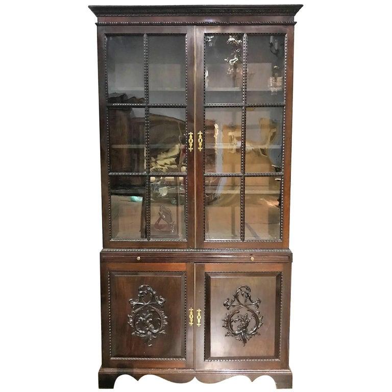 19th Century Georgian Mahogany Bookcase For Sale At 1stdibs