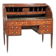 19th Century Georgian Mahogany Tambour Desk