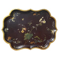 19th Century Georgian Recency Hand-Painted Serving Tray
