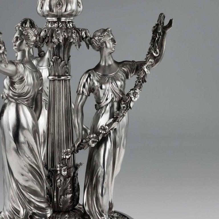 19th Century Georgian Silver Figural Centerpiece, Benjamin Smith, 1822 For Sale 1