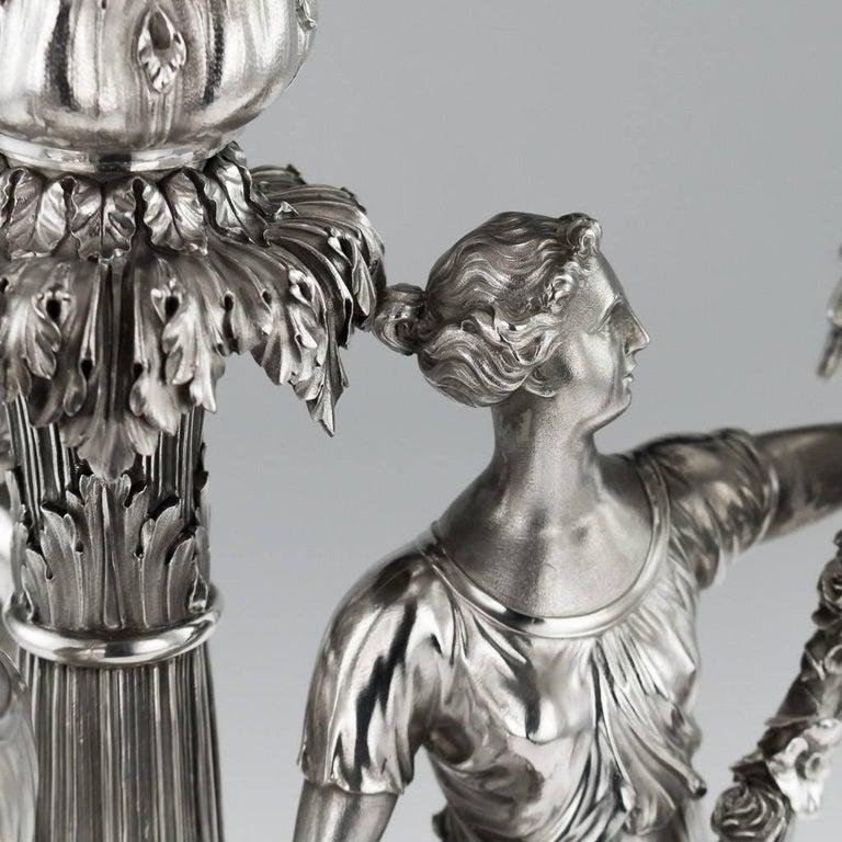 19th Century Georgian Silver Figural Centerpiece, Benjamin Smith, 1822 For Sale 2