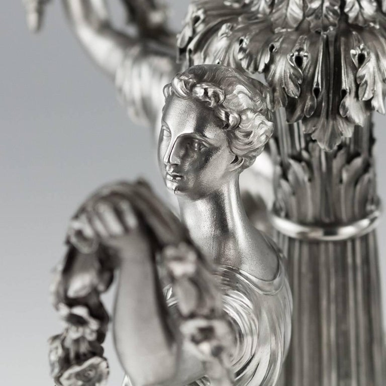 19th Century Georgian Silver Figural Centerpiece, Benjamin Smith, 1822 For Sale 3