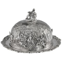 19th Century Georgian Solid Silver Teniers Muffin Dish Edward Farrell circa 1829