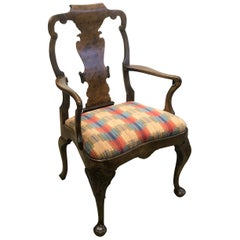 19th Century Georgian Style Library Arm Accent Chair