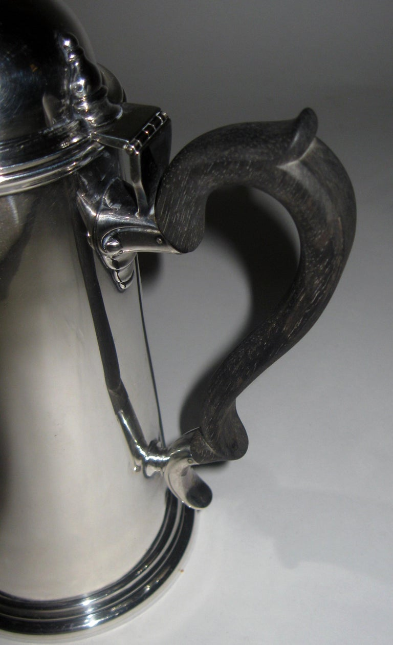 19th century Georgian Style Sterling Silver Coffee Server For Sale 2